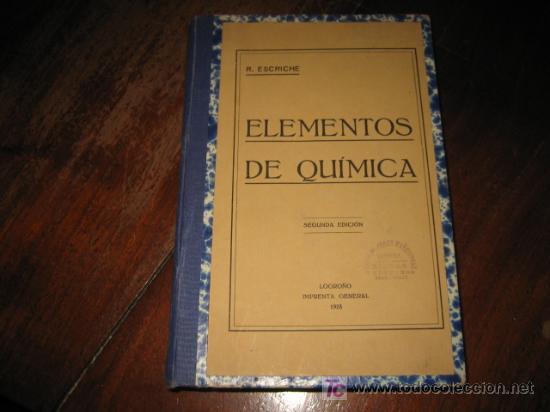 ELEMENTOS DE QUIMICA (Libros Antiguos, Raros y Curiosos - Ciencias, Manuales y Oficios - Física, Química y Matemáticas)