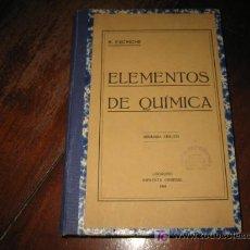 Libros antiguos: ELEMENTOS DE QUIMICA . Lote 8533141