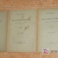 Libros antiguos: 1906. 5 TOMOS ACADEMIA CIENCIAS EXACTAS FÍSIC Y NATURALES ECHEGARAY CARRACIDO MOURELO Y OTROS. Lote 27575469