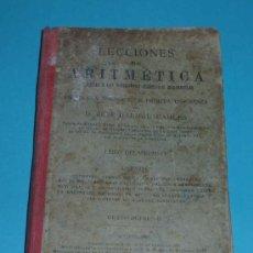 Libros antiguos: LECCIONES DE ARITMÉTICA. J. DALMAU CARLES ( L03 ). Lote 23885490