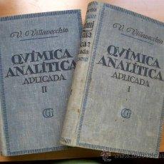 Libros antiguos: TRATADO DE QUIMICA ANALITICA APLICADA - DOS TOMOS - EDIT. GUSTAVO GILI - AÑO 1935. Lote 27170689