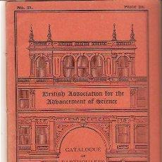 Libros antiguos: CATALOGO DE TERREMOTOS 1918-1924/CATALOGUE OF EARTHQUAKES 1918-1924. Lote 26958992
