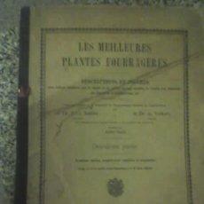 Libros antiguos: LAS MEJORES PLANTAS FORRAJERAS (STEBLER & A. VOLKART) - K.J. WYSS EDITOR - PARÍS - 1911 - RARO!!!. Lote 26282451