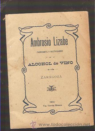 TABLA DE CORRECCIÓN DEL GRADO ALCOHÓLICO DEL ALCOHOL DE VINO ( AÑO 1904) (Libros Antiguos, Raros y Curiosos - Ciencias, Manuales y Oficios - Bilogía y Botánica)