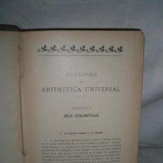 Libros antiguos: 0265- ARITMETICA UNIVERSAL. IMP.FRANCISCO J. ALTES. 1910. J.M. BARTRINA Y CAPELLA. Lote 18272068