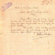 Libros antiguos: AVILA, 8 DE ENERO DE 1922. CARTAS COMERCIALES MARIANO BLANCO. Lote 18404130