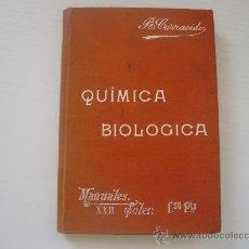 Libros antiguos: COMPENDIO DE QUIMICA BIOLOGICA - JOSE R. CARRACIDO. Lote 24628993