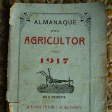 Libros antiguos: ALMANAQUE DEL AGRICULTOR 1917 167PGS. Lote 27214800