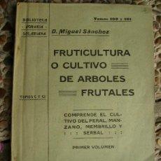 Libros antiguos: 1919 CULTIVO DE ARBOLES FRUTALES 200 PGS. Lote 27309772