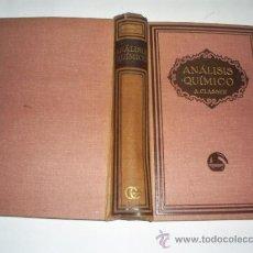Libros antiguos: TRATADO DE ANÁLISIS QUÍMICO CUALITATIVO Y CUANTITATIVO DR. ALEJANDRO CLASSEN GUSTAVO GILI1922 RM4685. Lote 21571288