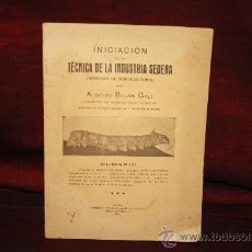Libros antiguos: 1299- INICIACION EN LA TECNICA DE LA INDUSTRIA SEDERA. IMP. ANTONIO FRANQUET. 1928. ALBERTO BALARI . Lote 24149845