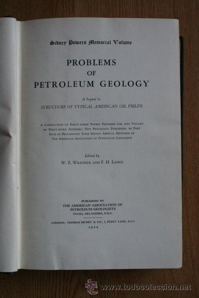 Libros antiguos: Problems of petroleum Geology. A Sequel of typical American oil fields. - Foto 1 - 24431061