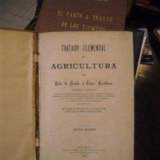 Libros antiguos: TRATADO ELEMENTAL DE AGRICULTURA POR GATO DE BENITO. Lote 26834139