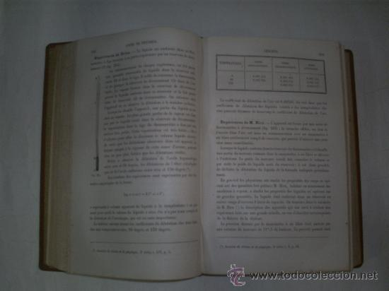 Libros antiguos: Cours Physique Comprenant les matières de Mathématiques Spéciales 3 Tomos 1883 - 1886 RM51057-V - Foto 4 - 27113569