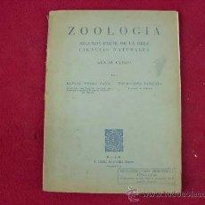 Libros antiguos: ZOOLOGÍA, SEGUNDA PARTE CIENCIAS, SEXTO CURSO, EDITADO EN VALENCIA. L.809-1754. Lote 27339139