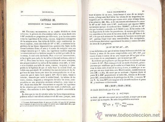 Libros antiguos: ELEMENTOS DE TRIGONOMETRÍA – Año 1884 - Foto 3 - 27494731