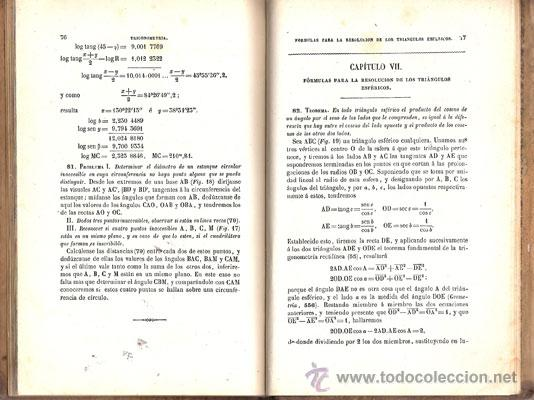 Libros antiguos: ELEMENTOS DE TRIGONOMETRÍA – Año 1884 - Foto 5 - 27494731