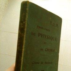 Libros antiguos: PROBLEMES DE PHYSIQUE ET DE CHIMIE.CLASSE DE SECONDE. . Lote 27991093