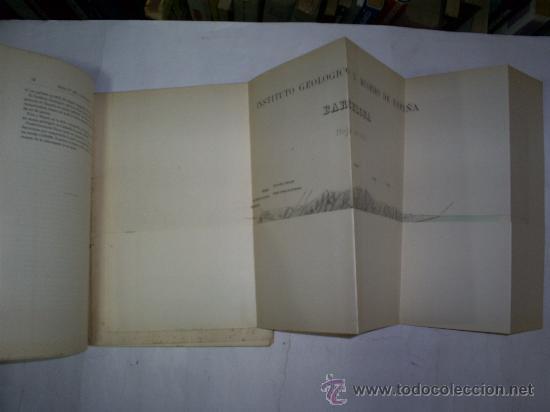 Libros antiguos: Mapa Geológico. Memoria explicativa de la Hoja nº 421. Barcelona 1928 RM52716 - Foto 2 - 108699643