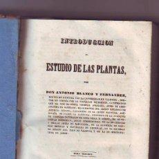 Libros antiguos: INTRODUCCIÓN AL ESTUDIO DE LAS PLANTAS. 1.846. Lote 28370891