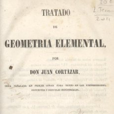 Libros antiguos: JUAN CORTAZAR. GEOMETRÍA ELEMENTAL. 8ª ED. MADRID, 1860. Lote 29272958