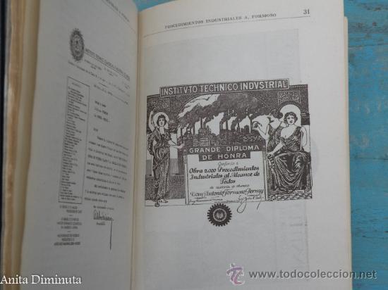 Libros antiguos: ANTIGUO LIBRO 2000 PROCEDIMIENTOS INDUSTRIALES AL ALCANCE DE TODOS - ANTONIO FORMOSO PERMUY - AÑO 19 - Foto 5 - 30342879