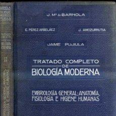 Libros antiguos: BARNOLA : EMBRIOLOGÍA GENERAL - ANATOMÍA, FISIOLOGÍA E HIGENE HUMANAS (1926) CON LÁMINAS EN COLOR. Lote 30545281
