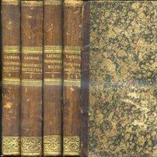 Libros antiguos: LACROIX : TRIGONOMETRÍA RECTILÍNEA - CUATRO TOMOS (1846). Lote 30708800