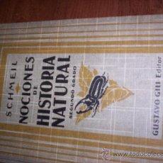 Libros antiguos: NOCIONES DE HISTORIA NATURAL - SEGUNDO GRADO. Lote 31005122