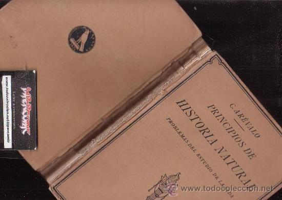 Libros antiguos: PRINCIPIOS DE HISTORIA NATURAL , AÑO 1927 / AUTOR: CELSO ARÉVALO CARRETERO - Foto 2 - 31154755