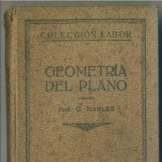Libros antiguos: MAHLER : GEOMETRÍA DEL PLANO (LABOR, 1927). Lote 31668201