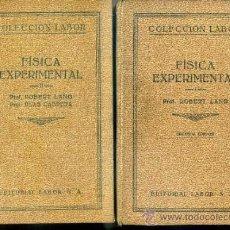 Libros antiguos: LANG : FÍSICA EXPERIMENTAL - DOS TOMOS (LABOR, 1932/3). Lote 32449174