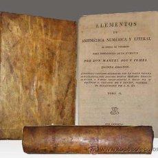 Libros antiguos: 1819 - ELEMENTOS DE ARITMETICA AL ESTILO DEL COMERCIO - POY Y COMES - PERGAMINO - 2 TOMOS. Lote 32638874