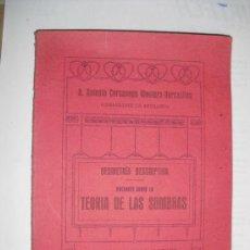 Libros antiguos: 1922 NOCIONES SOBRE LA TEORIA DE LAS SOMBRAS. Lote 33528713