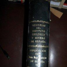 Libros antiguos: EXPLICACIÓN DEL NUEVO MAPA GEOLÓGICO DE ESPAÑA. INSTITUTO GEOLÓGICO Y MINERO. MADRID 1935. Lote 34048292