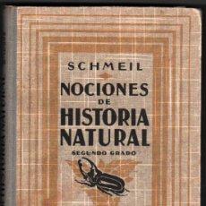 Libros antiguos: 1926 - NOCIONES DE HISTORIA NATURAL - DR.OTTO SCHMEIL - SEGUNDO GRADO - ILUSTRACIONES. Lote 34119276
