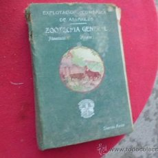 Libros antiguos: LIBRO EXPLOTACION ECONOMICA DE ANIMALES ZOOTECNIA GENERAL RAFAEL BERBIELA TOMO I 1907 ZARAGOZAL-2376. Lote 34302402