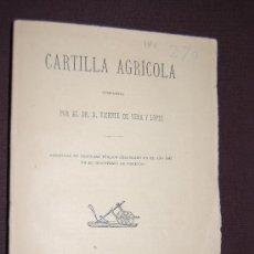 Libros antiguos: CARTILLA AGRICOLA, 1883. Lote 34654631