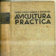 Libros antiguos: RICE : AVICULTURA PRÁCTICA (LUIS GILI, 1934). Lote 116500422