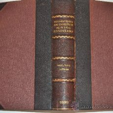 Libros antiguos: TRANSACTIONS OF THE AMERICAN INSTITUTE OF MINING ENGINEERS.VOL.VIII MAY1879 TO FEBRUARY 1880 RM51268. Lote 35190619