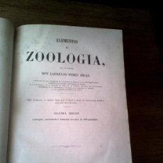 Libros antiguos: ELEMENTOS DE ZOOLOGÍA D. LAUREANO PÉREZ ARCAS. 2ª EDICIÓN. 1863. Lote 35834006