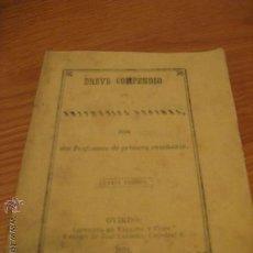 Libros antiguos: BREVE COMPENDIO DE ARITMETICA DECIMAL.- 1873. Lote 35435506