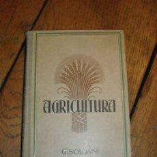 Libros antiguos: MANUAL DE AGRICULTURA POR J. SOLDANI. Lote 35859026
