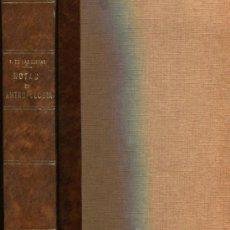 Libros antiguos: 1929: NOTAS PARA UN CURSO DE ANTROPOLOGÍA. Lote 35847810