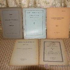 Libros antiguos: 2551- NOTES GEOLOGIQUES DEL VALLES I CONTORNS. JACINT ELIAS. GRAF. HELENICA. 5 CUADERNOS. 1923/1933.. Lote 35889628