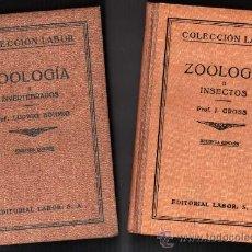 Libros antiguos: 1930-35 - ZOOLOGIA - 2 TOMOS - L.BOHMIG Y J.GROSS - FIGURAS - LAMINAS - LABOR - 2ª EDICION. Lote 36122551