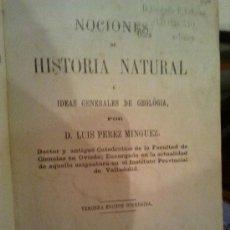 Libros antiguos: NOCIONES DE HISTORIA NATURAL. Lote 36489861