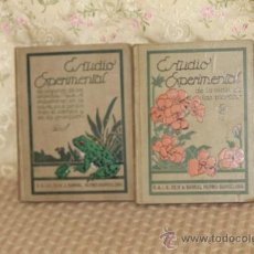 Libros antiguos: 3158- LOTE DE 2 EJEMPLARES DE EDIT. SEIX BARRAL. ESTUDIO EXPERIMENTAL. 1916/1917. VER DESCRIPCION. Lote 37229201