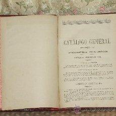 Libros antiguos: 3159- CATALOGO GENERAL PRIMERA DIVISION VEGETALES CULTIVADOS EN PLENA TIERRA. AGRICULTURA. . Lote 37229270