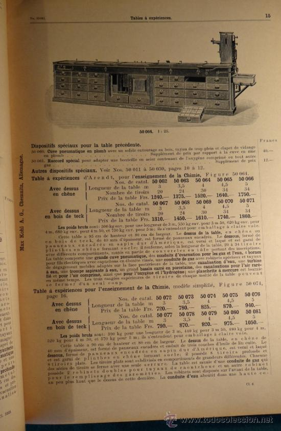 Libros antiguos: CATALOGO DE INSTALACIONES DE FISICA Y QUIMICA. MAX KOHL Nº 50, TOMO 1 (1911) CHEMNITZ ALEMANIA - Foto 3 - 37273703